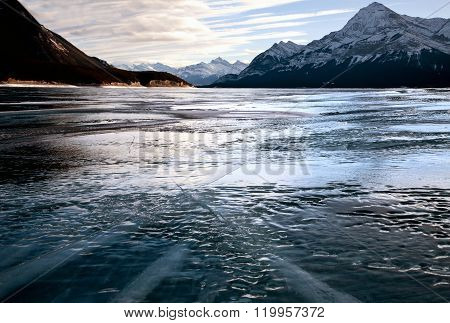 Abraham Lake Winter Ice formations bubbles design ** Note: Visible grain at 100%, best at smaller sizes