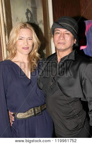 Andre Soriano and Victoria Pratt at the book signing of Pratt's new book,