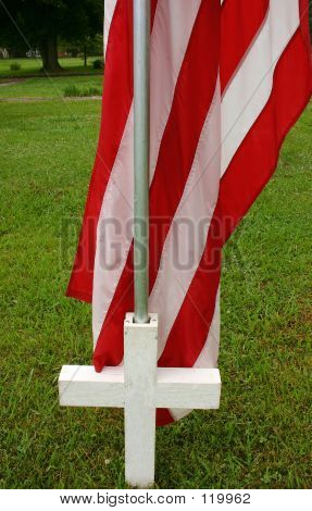 Flag And Cross