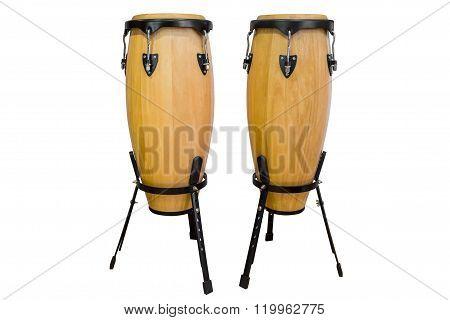 bongos isolated on white background