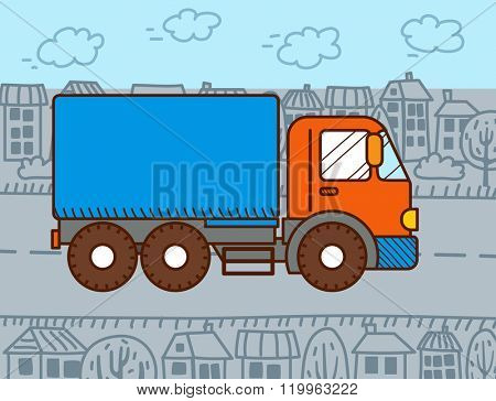 Vector Cartoon Truck