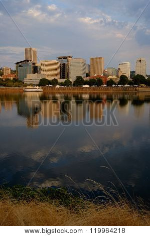Portland Sunrise, Willamette Reflections