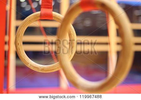 Gymnastic equipment in a gymnastic club .