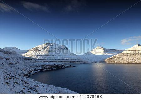 The Faroe Islands on a winters day