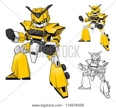 Robot Truck Transform Cartoon Character