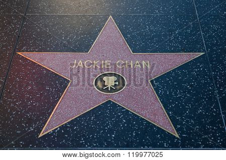 Jackie Chan Hollywood Star