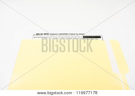 Tax Form 941 On White Background