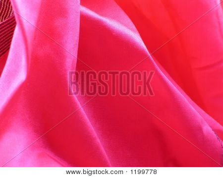 Pink Folds Of Raw Silk Falling