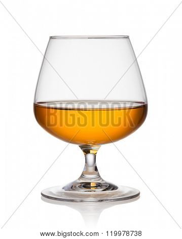 cognac on a white background