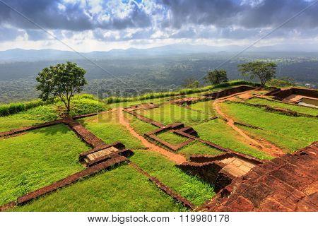 Famous Sigiriya Rock King's palace, Sri Lanka