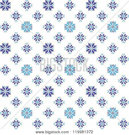 Seamless Texture With Blue Flowers