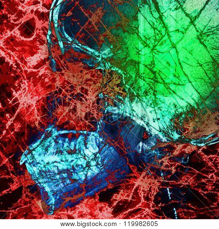 Pathogen Abstract With X-ray Film Background On Double Exposure Scene