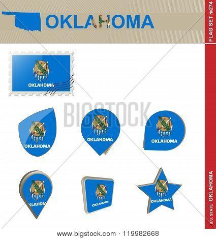 Oklahoma Flag Set, Flag Set #274
