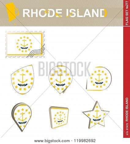 Rhode Island Flag Set, Flag Set #277