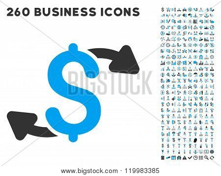 Cash Outs Icon with Flat Vector Set