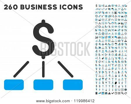 Financial Hierarchy Icon with Flat Vector Set