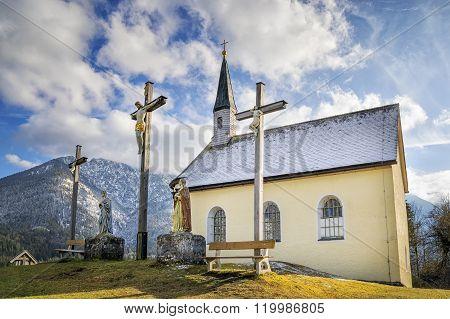 Chapel In Bavarian Alps