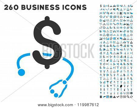 Medical Business Icon with Flat Vector Set