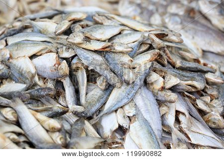 Salted Dried Fish Piled Up