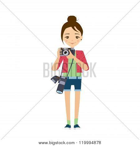 Photographer. Vector Illustration.