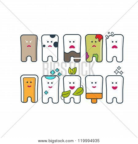 Dental Care icon set