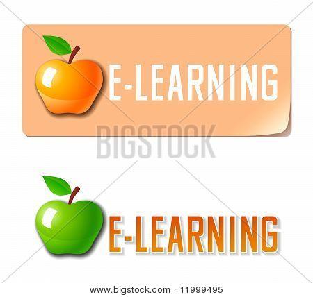 E-learning. Vector icon
