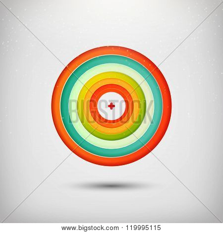 Colorful target illustration