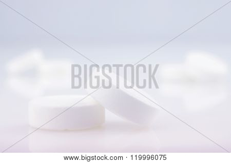 White  Medicine Antibiotic Pills