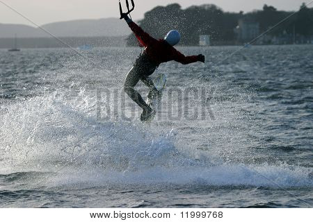 Kite Surfer, Poole Harbour, Dorset