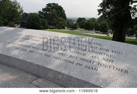 Ask not ..., Arlington Cemetary