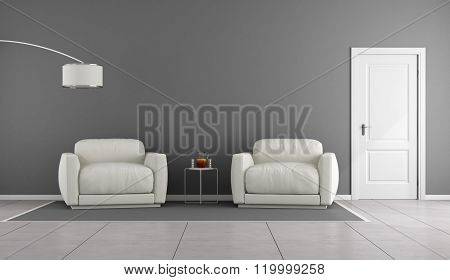White And Gray Livingroom