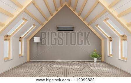 Modern Attic Without Furniture