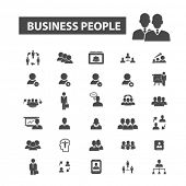 Постер, плакат: business people icons business people logo team icons vector team flat illustration concept team