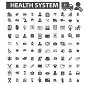 Постер, плакат: health system icons health system logo medicine icons vector medicine flat illustration concept