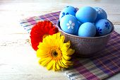 ������, ������: Blue Easter Decorated Eggs