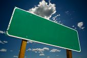foto of road sign  - Blank Road Sign  - JPG