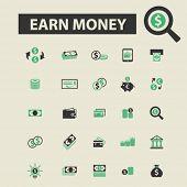 Постер, плакат: earn money icons earn money logo earn money vector earn money flat illustration concept earn mon