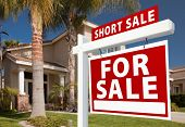 picture of eviction  - Short Sale Home For Sale Real Estate Sign and House  - JPG
