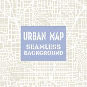 Seamless map  city plan poster
