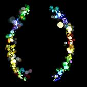 Lights in the shape of parentheses