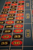 stock photo of las vegas casino  - Roulette table at a casino in Las Vegas - JPG