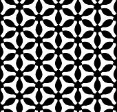 Vector modern seamless geometry pattern trippy black and white abstract poster