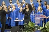 NEW YORK - AUGUST 28: Singer Diana Ross performs during the opening ceremony of the US Open at the U
