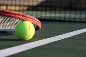 Постер, плакат: Теннисный мяч & ракетка