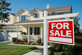 pic of real-estate agent  - Home For Sale Real Estate Sign in Front of New House - JPG