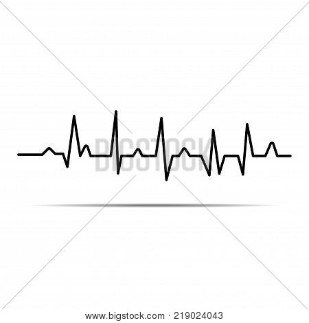 poster of Cardiogram. Heartbeat. The icon. Romance. Abstract background.