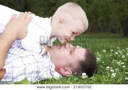 Father Plays With The Child