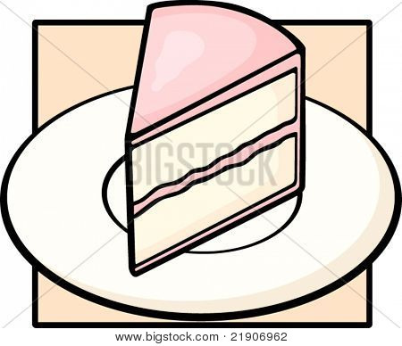 cake slice in dish