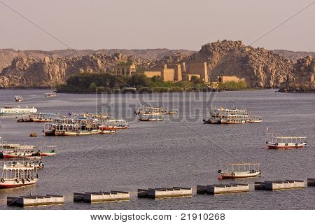 A view of Philae temple, Aswan, Egypt