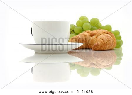 Croissant, Cup Of Coffee